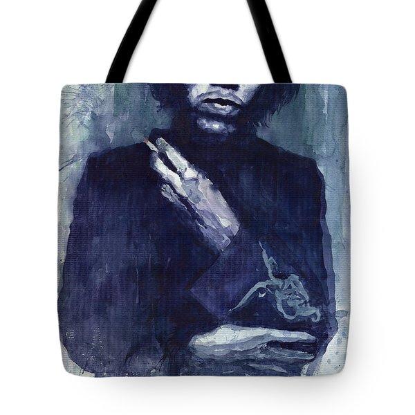 Jimi Hendrix 01 Tote Bag by Yuriy  Shevchuk
