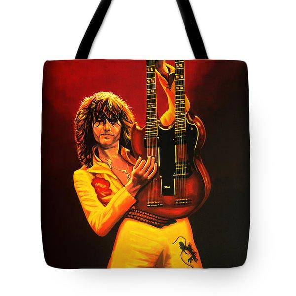 Jimmy Page Tote Bag by Paul  Meijering