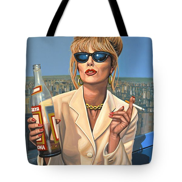 Joanna Lumley As Patsy Stone Tote Bag by Paul Meijering