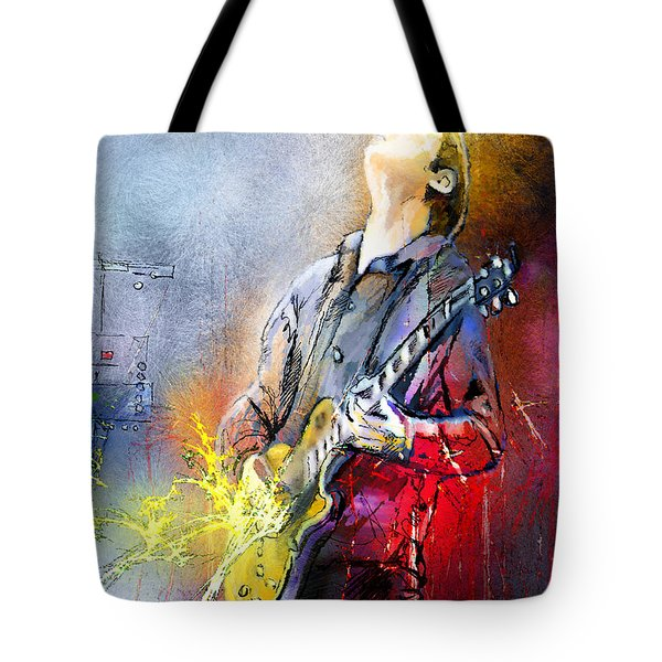 Joe Bonamassa 02 Tote Bag by Miki De Goodaboom