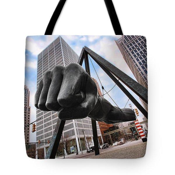 Joe Louis Fist - In Your Face - Version 2 Tote Bag by Gordon Dean II