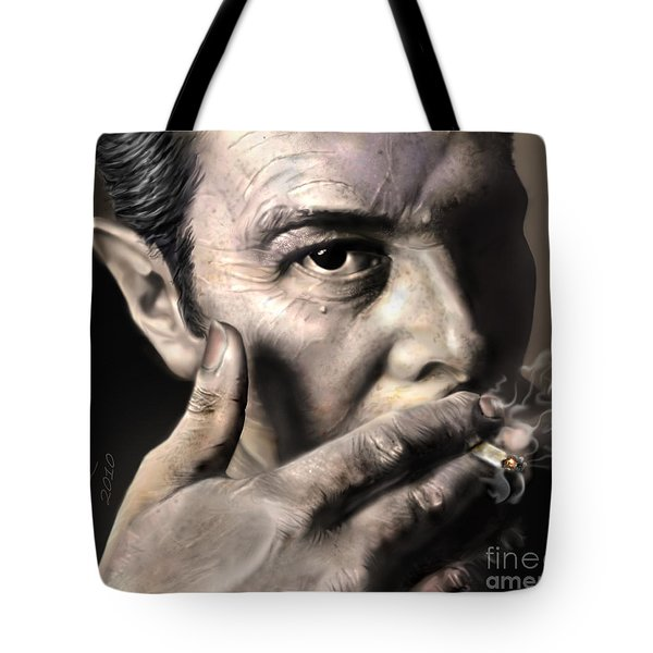 Joe Strummer-Burning Lights Tote Bag by Reggie Duffie