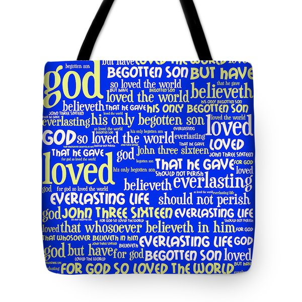 John 3-16 For God So Loved The World 20130622 Vertical Tote Bag by Wingsdomain Art and Photography