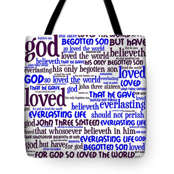 John 3-16 For God So Loved The World 20130622whi Vertical Tote Bag by Wingsdomain Art and Photography