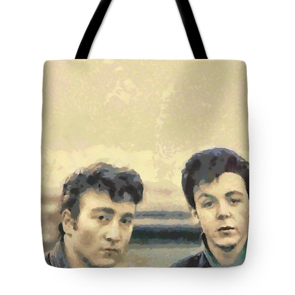 John And Paul When It All Started Tote Bag by Paulette B Wright
