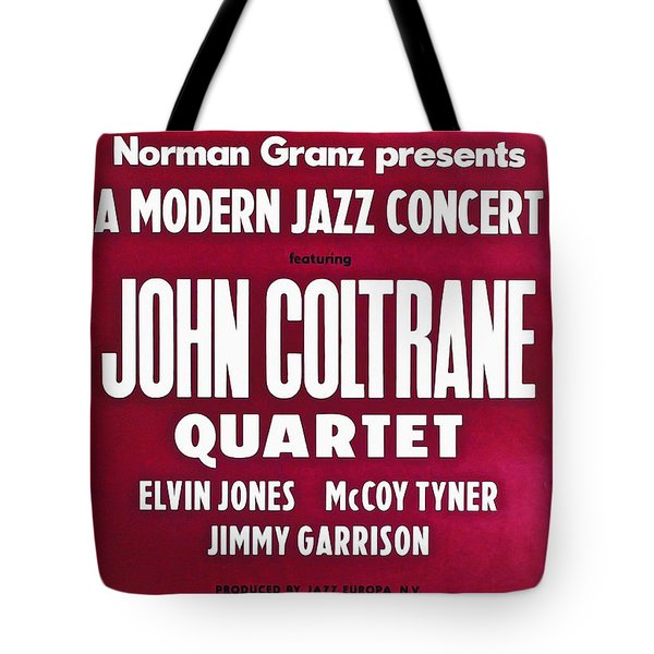 John Coltrane Quartet In Sweden Tote Bag by Digital Reproductions