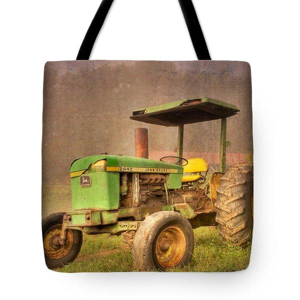 John Deere 2440 Tote Bag by Debra and Dave Vanderlaan