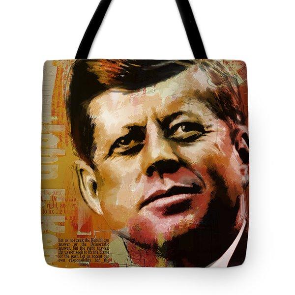 John F. Kennedy Tote Bag by Corporate Art Task Force