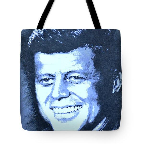 John F. Kennedy Tote Bag by Victor Minca