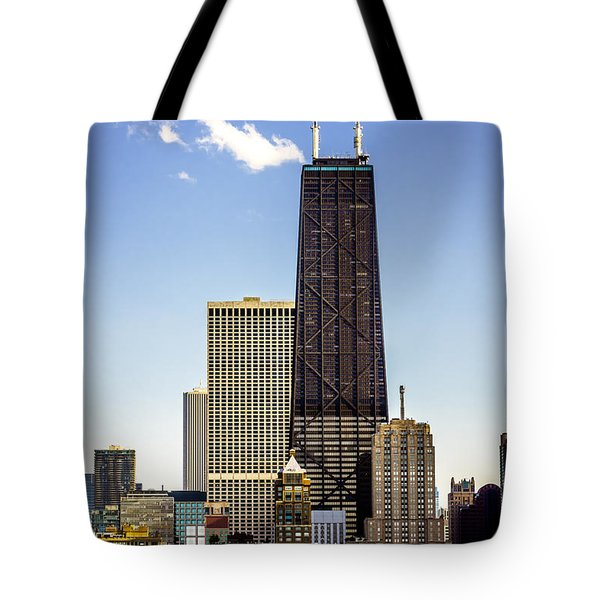 John Hancock Center Building In Chicago Tote Bag by Paul Velgos