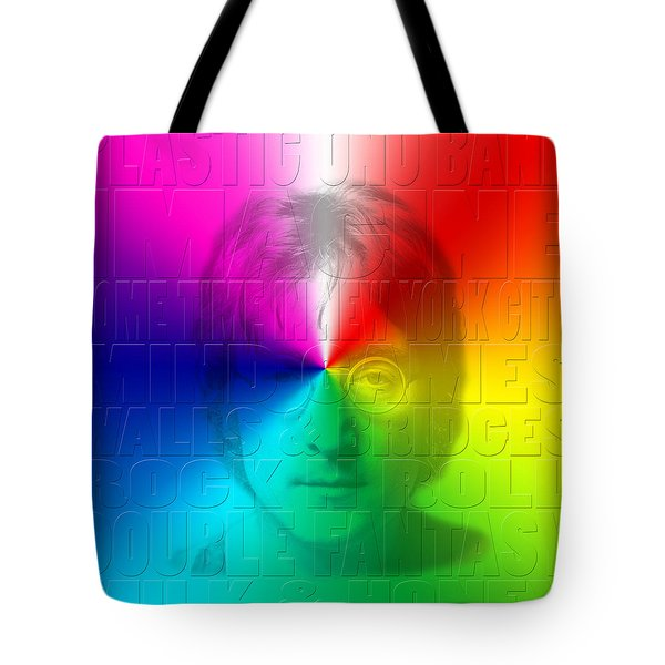 John Lennon 1 Tote Bag by Andrew Fare