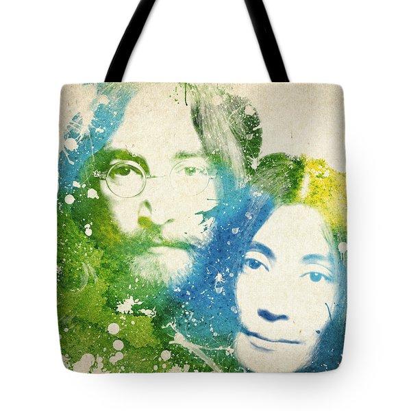 John Lennon And Yoko Ono Tote Bag by Aged Pixel