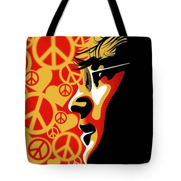 John Lennon Imagine Tote Bag by Sassan Filsoof