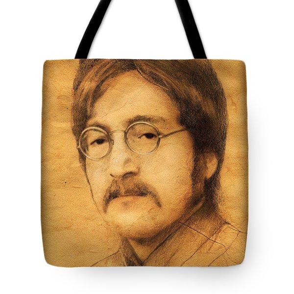 John Lennon Tote Bag by Jaroslaw Blaminsky
