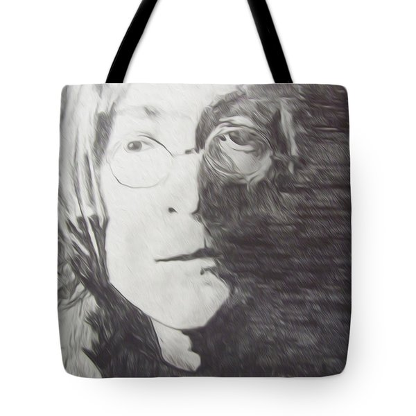 John Lennon Pencil Tote Bag by Jimi Bush