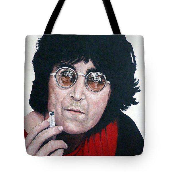 John Lennon Tote Bag by Tom Roderick