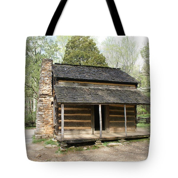 John Oliver Place In Cades Cove Tote Bag by Roger Potts