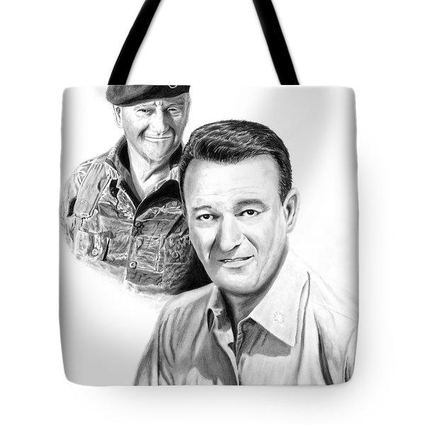 John Wayne Tote Bag by Peter Piatt