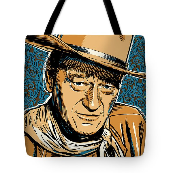 John Wayne Pop Art Tote Bag by Jim Zahniser