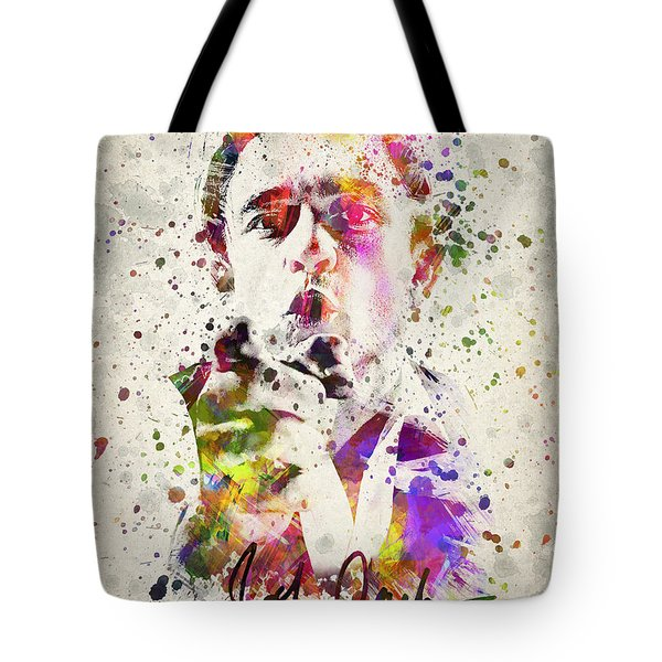 Johnny Cash  Tote Bag by Aged Pixel