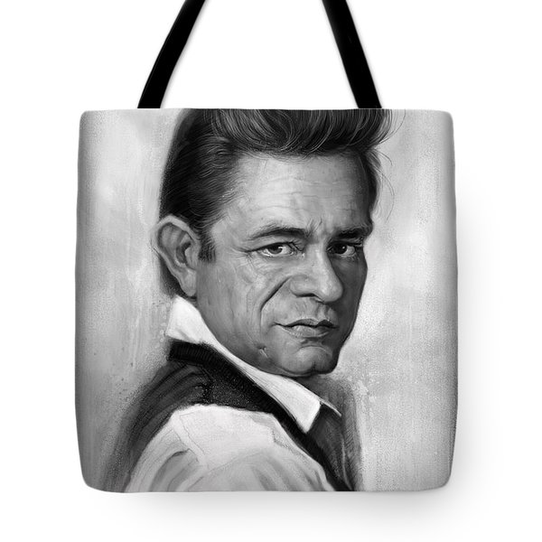Johnny Cash Tote Bag by Andre Koekemoer