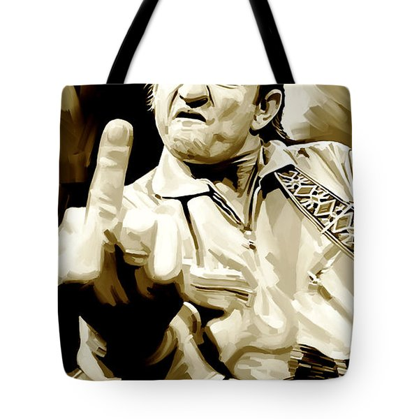 Johnny Cash Artwork 2 Tote Bag by Sheraz A
