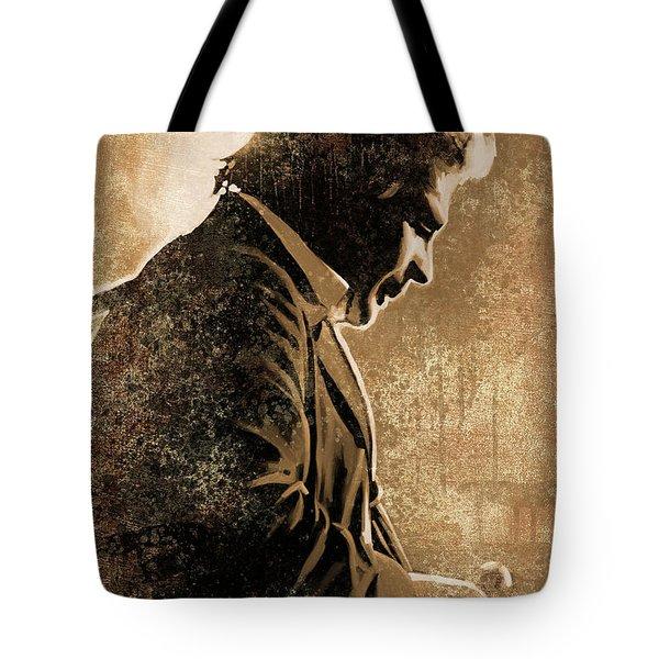 Johnny Cash Artwork Tote Bag by Sheraz A
