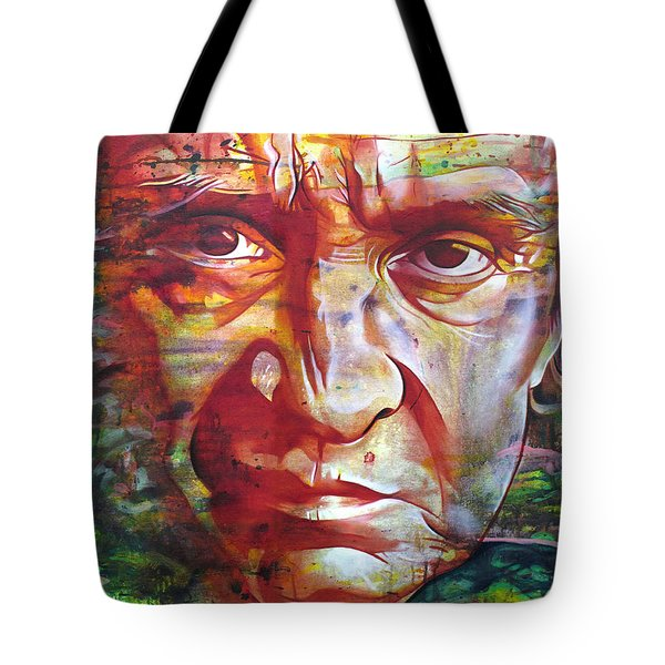 Johnny Cash Tote Bag by Joshua Morton