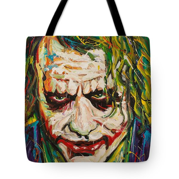 Joker Tote Bag by Michael Wardle
