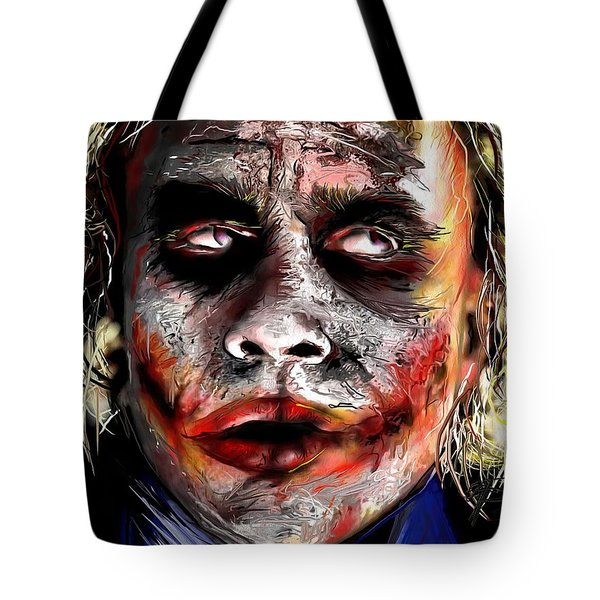 Joker Painting Tote Bag by Daniel Janda