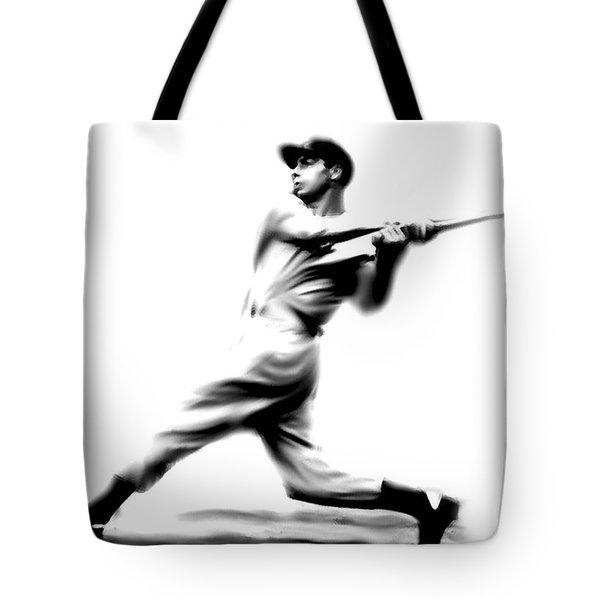 Joltin Joe Dimaggio  Joe Dimaggio Tote Bag by Iconic Images Art Gallery David Pucciarelli