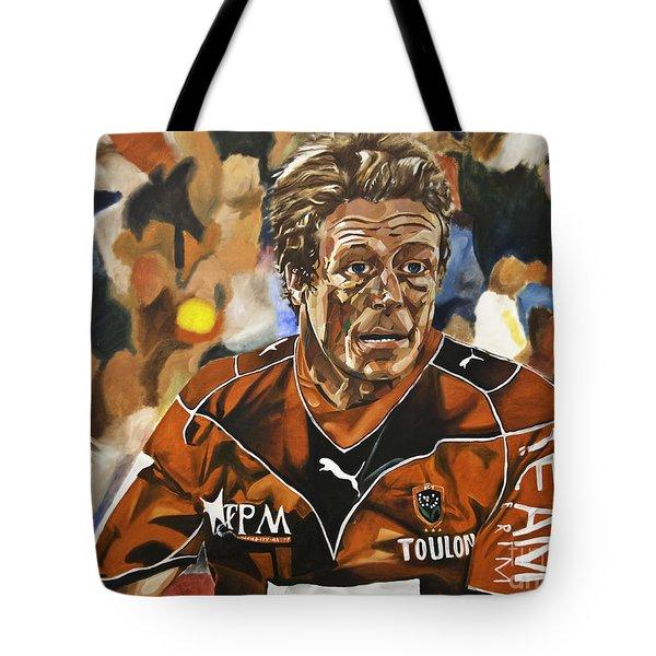 Jonny Wilkinson Tote Bag by James Lavott