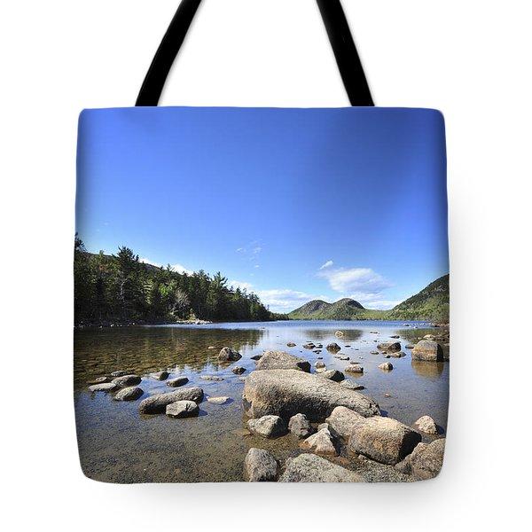 Jordan Pond Tote Bag by Terry DeLuco