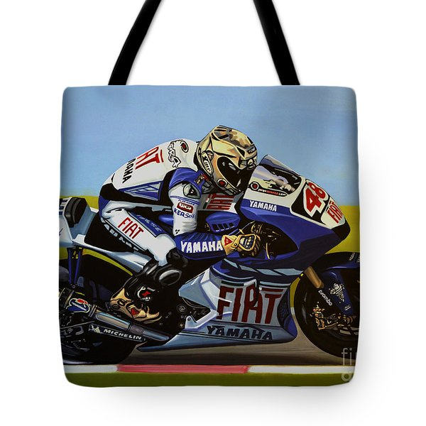 Jorge Lorenzo Tote Bag by Paul  Meijering