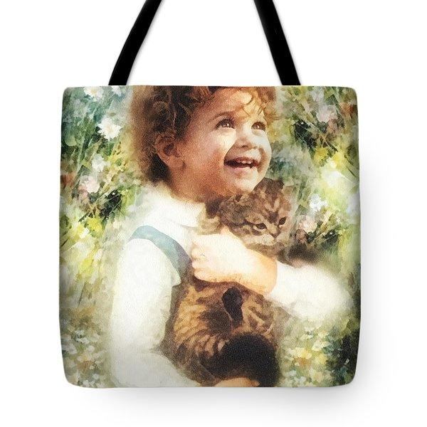 Joy Tote Bag by Mo T