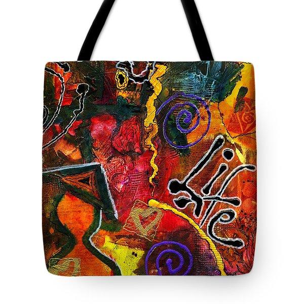 Joyfully Living Life Anew Tote Bag by Angela L Walker