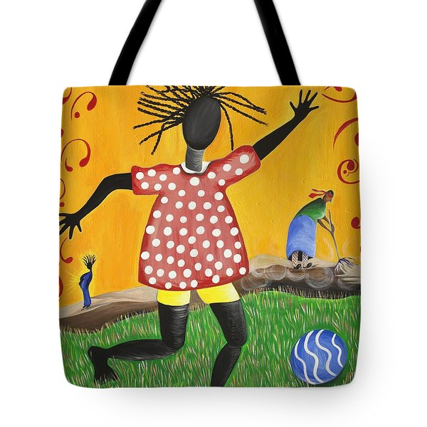 Joy's Promise Tote Bag by Patricia Sabree