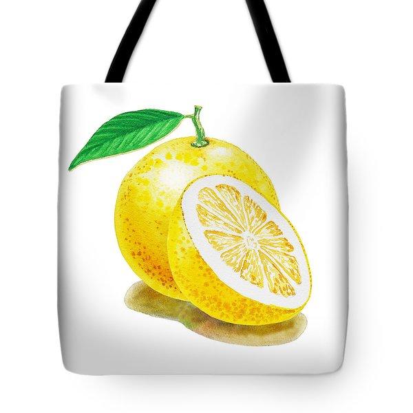 Juicy Grapefruit Tote Bag by Irina Sztukowski