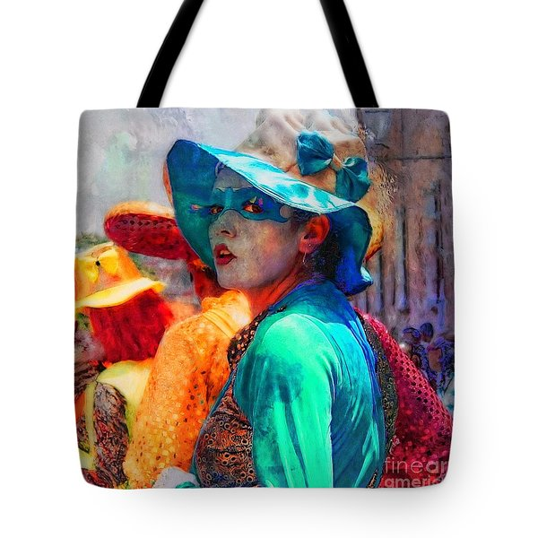 Julia At The Parade Tote Bag by John  Kolenberg
