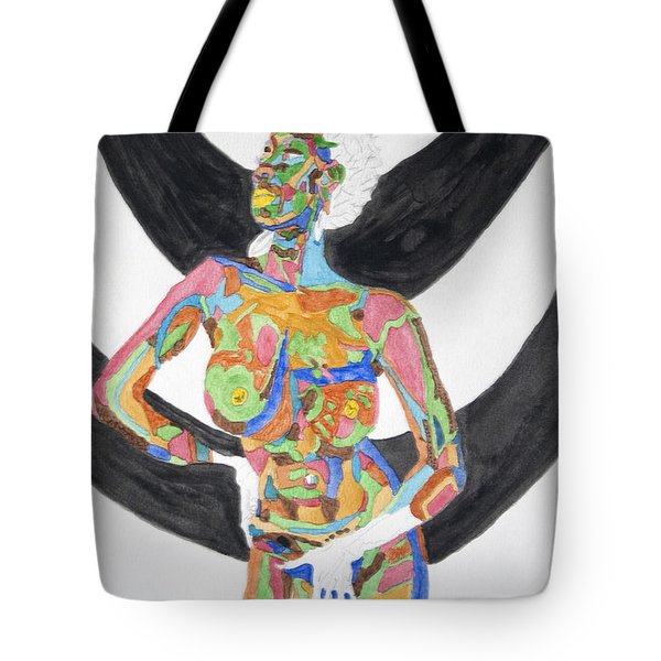 Julie Anderson Nude Tote Bag by Stormm Bradshaw