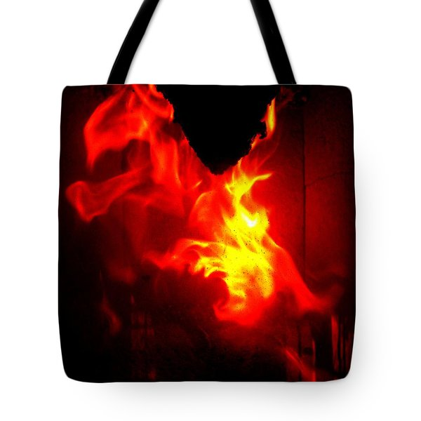 Jumping Dragon Tote Bag by Hilde Widerberg
