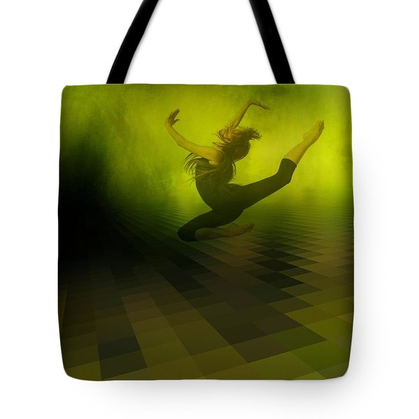 Jumping in Tote Bag by Gun Legler