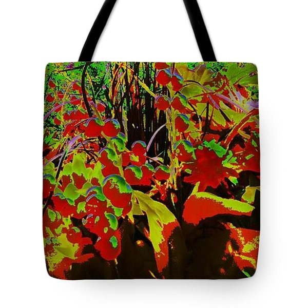 Jungle Abstract Tote Bag by Mike Breau