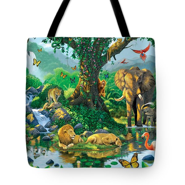 Jungle Harmony Tote Bag by Chris Heitt