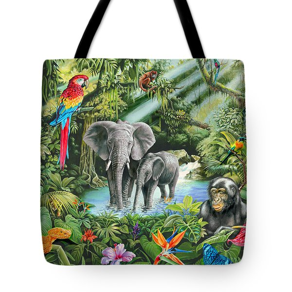 Jungle Tote Bag by Mark Gregory