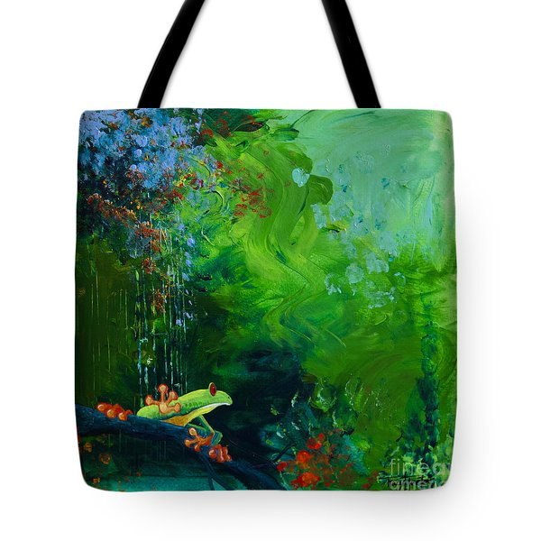 Jungle Rains I Tote Bag by Tracy L Teeter