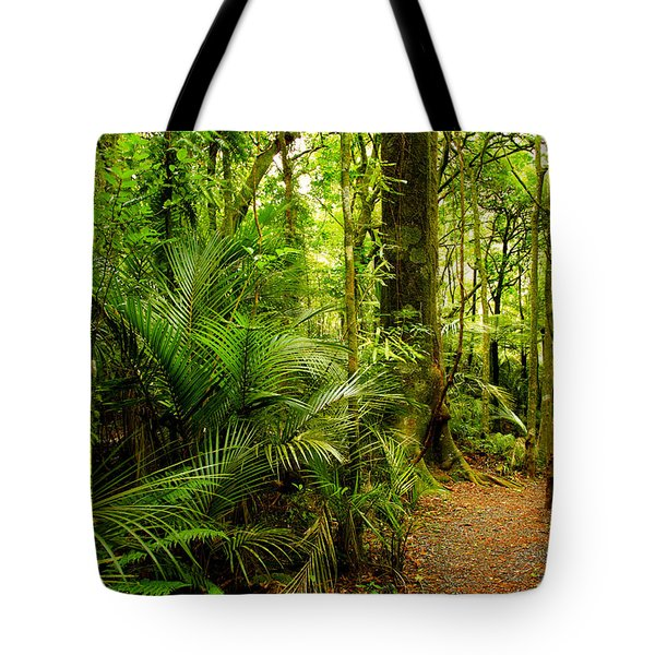 Jungle scene Tote Bag by Les Cunliffe