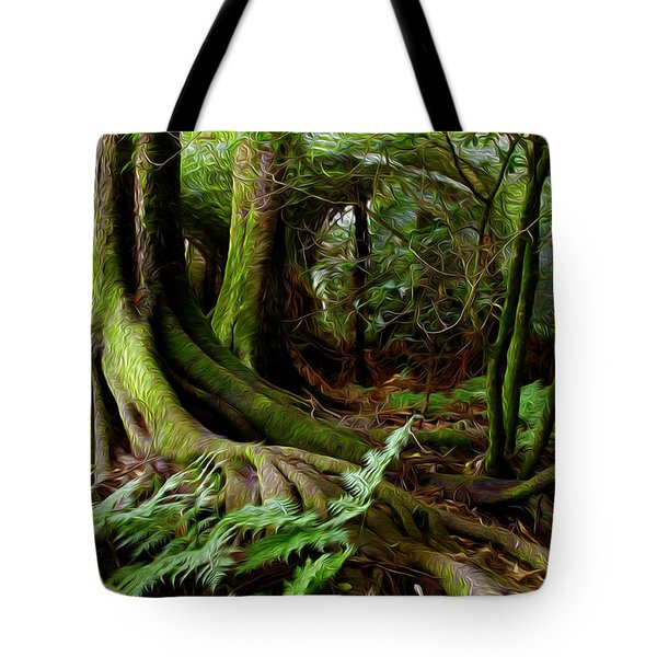 Jungle trunks2 Tote Bag by Les Cunliffe