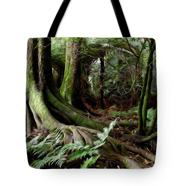 Jungle Trunks3 Tote Bag by Les Cunliffe