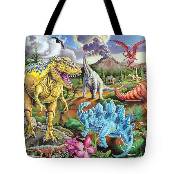 Jurassic Jubilee Tote Bag by Mark Gregory